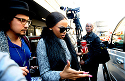 Media Personality Bonang Mathebe leavingg the SpecialisedCommercial Crimes Court in Johannesburg CBD, she is facing charges of tax fraud after not allegedly paying tax, the case was postponed to next month.<br /> Picture: Nokuthula Mbatha/AfricanNewsAgency/ANA