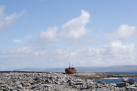 The Plassey shipwreck on Inis Oirr Island the Aran Islands County Galway Ireland