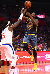 November 13, 2018 - Los Angeles, CA, U.S. - LOS ANGELES, CA - NOVEMBER 12: Golden State Warriors Forward Draymond Green (23) goes up for a floater during a NBA game between the Golden State Warriors and the Los Angeles Clippers on November 12, 2018 at STAPLES Center in Los Angeles, CA. (Photo by Brian Rothmuller/Icon Sportswire) (Credit Image: © Brian Rothmuller/Icon SMI via ZUMA Press)