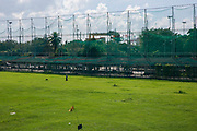 Golf course which is part of Intramuros Golf Club next to Fort Santiago in Intramuros, Manila, Philippines.