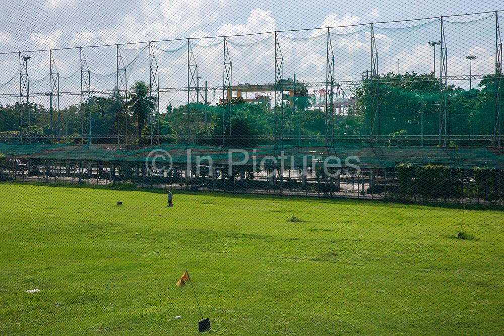 Golf course which is part of Intramuros Golf Club next to Fort Santiago in Intramuros, Manila, Philippines.