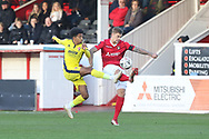 Jacob Maddox and Sam Magri  during the The FA Cup 1st round match between Ebbsfleet and Cheltenham Town at Stonebridge Road, Ebsfleet, United Kingdom on 10 November 2018.
