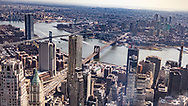 NEW YORK  2020V10<br /> Vy från One World Trade Center mot Brooklyn Bridge<br /> <br /> Foto: Per Danielsson/Projekt.P