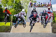 #572 (BRETHAUER Luis) GER and #24 (SHARRAH Corben) USA at Round 4 of the 2019 UCI BMX Supercross World Cup in Papendal, The Netherlands