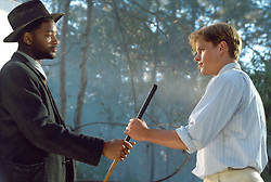 RELEASE DATE: November 3, 2000. <br /> MOVIE TITLE: The Legend Of Bagger Vance. <br /> STUDIO: Allied Film Makers. <br /> DIRECTOR: Robert Redford <br /> PLOT: A down-and-out golfer attempts to recover his game and his life with help from a mystical caddy. <br /> PICTURED: Matt Damon as Rannulph Junuh and Will Smith<br /> (Credit Image: © ALLIED FILM MAKERS/Entertainment Pictures/ZUMAPRESS.com)