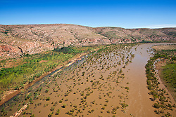 The Fitzroy River near Fitzroy Bluff on Old Mornington Station