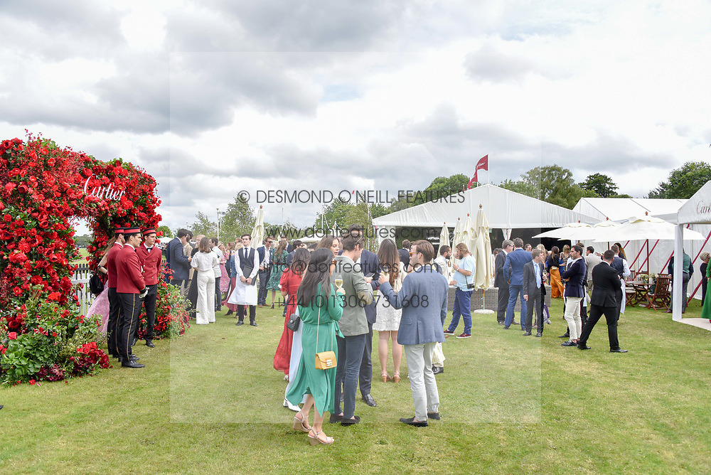 Atmosphere at the Cartier Queen's Cup Polo 2019 held at Guards Polo Club, Windsor, Berkshire. UK 16 June 2019. <br /> <br /> Photo by Dominic O'Neill/Desmond O'Neill Features Ltd.  +44(0)7092 235465  www.donfeatures.com