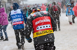 09.12.2017, Biathlonarena, Hochfilzen, AUT, IBU Weltcup Biathlon, Hochfilzen, Herren, Verfolgung, im Bild Deutscher Biathlon Fan // Biathlon Fan of Germany // during men' s Pursuit of BMW IBU Biathlon World Cup at the Biathlonarena in Hochfilzen, Austria on 2017/12/09. EXPA Pictures © 2017, PhotoCredit: EXPA/ Stefanie Oberhauser