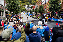 September 20, 2017 - Bergen, NORWAY - 170920 Spectators are standing around the bike changing zone during the Men Elite Individual Time Trial on September 20, 2017 in Bergen..Photo: Jon Olav Nesvold / BILDBYRN / kod JE / 160023 (Credit Image: © Jon Olav Nesvold/Bildbyran via ZUMA Wire)