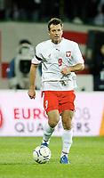 Fotball<br /> Polen<br /> Foto: Wrofoto/Digitalsport<br /> NORWAY ONLY<br /> <br /> 13.10.2007<br /> Maciej Zurawski (POL)
