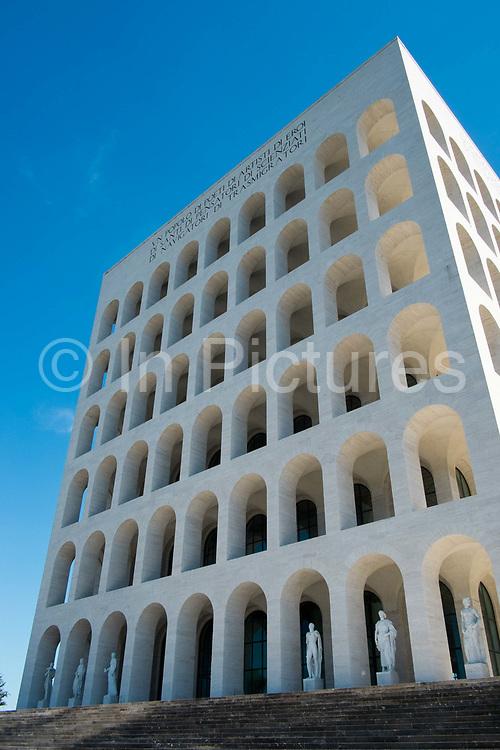 Palazzo della Civiltà del Lavoro, EUR, Rome, Italy.