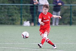 NEWPORT, WALES - Thursday, August 4, 2016: North Wales Academy Boys' Kian Owen during the Welsh Football Trust Cymru Cup 2016 at Newport Stadium. (Pic by Paul Greenwood/Propaganda)