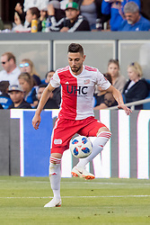 June 13, 2018 - San Jose, CA, U.S. - SAN JOSE, CA - JUNE 13: New England Revolution Defender Gabriel Somi (91) traps the ball during the MLS game between the New England Revolution and the San Jose Earthquakes on June 13, 2018, at Avaya Stadium in San Jose, CA. The game ended in a 2-2 tie. (Photo by Bob Kupbens/Icon Sportswire) (Credit Image: © Bob Kupbens/Icon SMI via ZUMA Press)