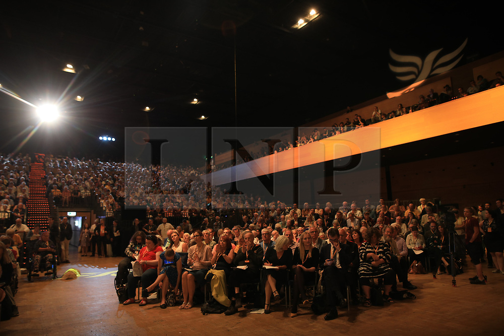 © Licensed to London News Pictures . 15/09/2019. Bournemouth, UK . The party debate and vote on a motion to revoke article 50 should they form the next government. The Liberal Democrat Party Conference at the Bournemouth International Centre . Photo credit: Joel Goodman/LNP