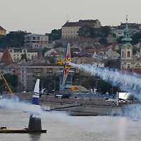 0608204985 Red Bull Air Race international air show on the national holiday over the river Danube accompanying the anniversary of Hungarian state foundation. Budapest, Hungary. Sunday, 20. August 2006. ATTILA VOLGYI