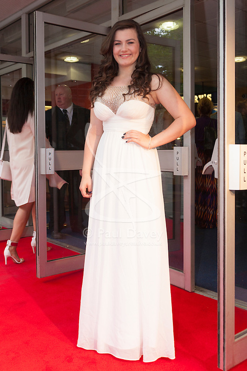 Odeon West End, London, June 16th 2014. BGT singer Charlotte Jaconelli arrives at the Odeon West End in Leicester Square, London, for the gala Screening of Clint Eastwood's big screen version of the Tony Award winning musical Jersey Boys.