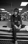 Photo of U2 - Larry Mullen Shopping Chicago USA  1982