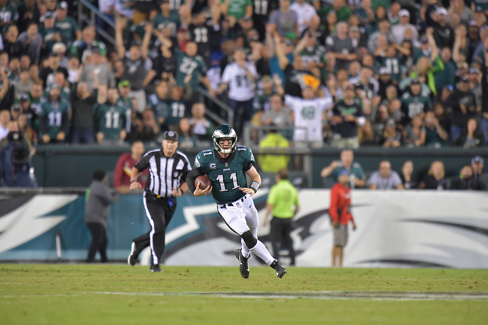 The Philadelphia Eagles beat the Washington Redskins 34-24 at Lincoln Financial Field on October 23, 2017 in Philadelphia, Pennsylvania. (Photo by Drew Hallowell/Philadelphia Eagles)