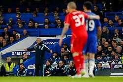 Chelsea Manager Jose Mourinho gestures - Photo mandatory by-line: Rogan Thomson/JMP - 07966 386802 - 27/01/2015 - SPORT - FOOTBALL - London, England - Stamford Bridge - Chelsea v Liverpool - Capital One Cup Semi-Final Second Leg.