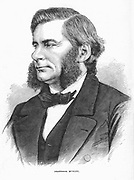 Thomas Henry Huxley (1825-1895) British biologist, supporter of Darwin and evolution. From 'The Science Record', New York, 1872.