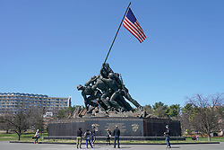 The U.S. Marine Corps War Memorial in Washington DC in the United States. From a series of travel photos in the United States. Photo date: Saturday, March 31, 2018. Photo credit should read: Richard Gray/EMPICS