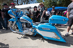 David Covington's best of show at the Custom bagger show at the Iron Horse Saloon during Daytona Beach Bike Week 2015. FL, USA. Tuesday March 10, 2015.  Photography ©2015 Michael Lichter.