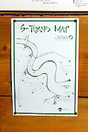 Signs for the S-turn section of Silver Creek on the Nature Conservancy property