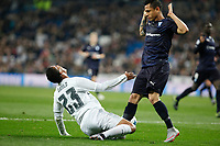 Real Madrid´s Danilo (L) and Malmo´s Yotun during 2015/16 Champions League soccer match between Real Madrid and Malmo at Santiago Bernabeu stadium in Madrid, Spain. December 08, 2014. (ALTERPHOTOS/Victor Blanco)