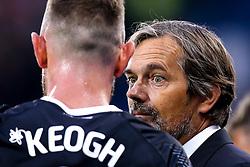 Derby County manager Phillip Cocu talks to Richard Keogh of Derby County - Mandatory by-line: Robbie Stephenson/JMP - 05/08/2019 - FOOTBALL - The John Smith's Stadium - Huddersfield, England - Huddersfield Town v Derby County - Sky Bet Championship