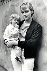 Young mother with toddler, UK 1989