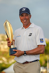 January 13, 2019 - Honolulu, HI, U.S. - HONOLULU, HI - JANUARY 13: Matt Kuchar poses with the championship trophy after winning the Sony Open at the Waialae Country Club in Honolulu, HI. (Photo by Darryl Oumi/Icon Sportswire) (Credit Image: © Darryl Oumi/Icon SMI via ZUMA Press)