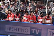 TRENTO 15 NOVEMBRE  2015<br /> Basket campionato serie A12013/2014<br /> Dolomiti Energia Trento Openjobmetis Varese<br /> Nella Foto Openjobmetis Varese delusione<br /> Foto Ciamillo