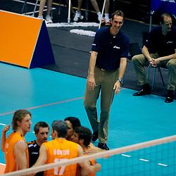 18-05-2008 VOLLEYBAL: EK KWALIFICATIE NEDERLAND - SLOVENIE: ROTTERDAM<br /> Nederland wint ook de laatste wedstrijd met 3-0 - Peter Blange<br /> ©2008-WWW.FOTOHOOGENDOORN.NL