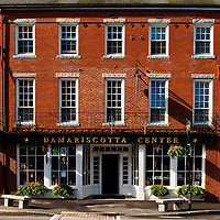Classic designed New England commercial - residential mixed builiding located on US Highway 1, Damariscotta, Maine.