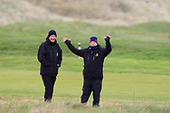 GUI officials on the 17th during Round 3 of the Ulster Boys Championship at Donegal Golf Club, Murvagh, Donegal, Co Donegal on Friday 26th April 2019.<br /> Picture:  Thos Caffrey / www.golffile.ie