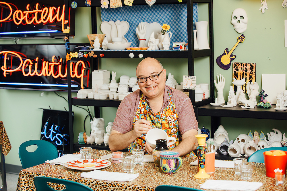 Mark Moore owner of Pottery Fun