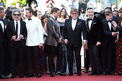 David Furnish, Bernie Taupin, Sir Elton John and Taron Egerton attending the Rocketman Premiere as part of the 72nd Cannes International Film Festival in Cannes, France on May 16, 2019. Photo by Aurore Marechal/ABACAPRESS.COM
