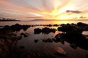 Tidepool. Sunset, Napili Bay, Maui, Hawaii