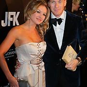 NLD/Amsterdam/20111029- JFK Greatest Man Award 2011, Lauren Verster en Jort Kelder