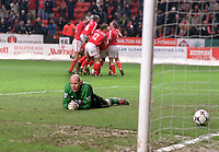 Brad Friedel (Blackburn) lays dejected after Charlton's 3rd goal in injury time. Charlton Athletic v Blackburn Rovers. 21/2/2004. Credit : Andrew Cowie, Digitalsport