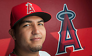 Carlos Perez poses during the Angels' Photo Day at Spring Training in Tempe, AZ on Tuesday, February 21, 2017. (Photo by Kevin Sullivan, Orange County Register/SCNG)