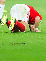 Football - 2017 / 2018 _Wales v Austria_FIFA World Cup Qualifier 2018<br /> <br /> Gareth Bale of Wales writhes  on the turf after being fouled by Martin Hinteregger of Austria--- at Cardiff City Stadium.<br /> <br /> COLORSPORT/WINSTON BYNORTH