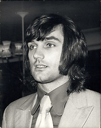 Jan. 07, 1972 - George Best Vanishes: George Best, the Manchester United soccer star has gone missing - and has failed to report for training all week - and has been dropped from tomorrow's home game against Wolves. Manager Frank O'Farrell said today: ''George Best has not trained all week and therefore cannot be fit for tomorrow's match.'' A close friend of Best's said that he has recently been escorting Miss Great Britain - 19-year-old Carolyn Moore, who lives in Nantwich, Cheshire. Photo shows George Best, the Manchester United soccer star, who has not reported for training all week. (Credit Image: © Keystone Press Agency/Keystone USA via ZUMAPRESS.com)