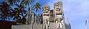 Totem poles, Puuhonua O Honaunau National Historical Park, Hawaii, USA