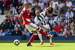 Matt Phillips of West Bromwich Albion crosses - Rogan Thomson/JMP - 28/08/2016 - FOOTBALL - The Hawthornes - West Bromwich, England - West Bromwich Albion v Middlesbrough - Premier League.
