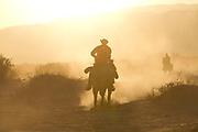 Horseback riding at sunset Photographed in the Aravah Desert, Israel