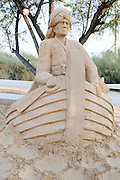 Sinbad the Sailor from the Book of One Thousand and One Nights. Sand Sculpture