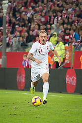 November 15, 2018 - Gdansk, Pomorze, Poland - Kamil Grosicki (11) during the international friendly soccer match between Poland and Czech Republic at Energa Stadium in Gdansk, Poland on 15 November 2018  (Credit Image: © Mateusz Wlodarczyk/NurPhoto via ZUMA Press)