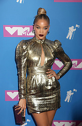August 20, 2018 - New York City, New York, U.S. - Model JASMINE SANDERS attends the arrivals for the 2018 MTV 'VMAS' held at Radio City Music Hall. (Credit Image: © Nancy Kaszerman via ZUMA Wire)