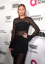 Maria Sharapova attending the Elton John AIDS Foundation Viewing Party held at West Hollywood Park, Los Angeles, California, USA.